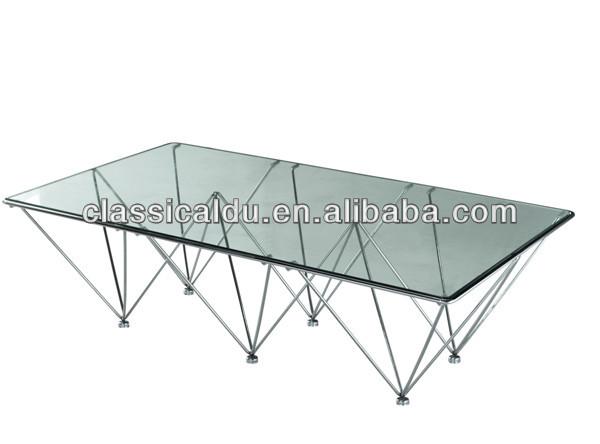 Tempered Glass Center Table, Modern Design New Center Table, Glass Top Center  Table Design