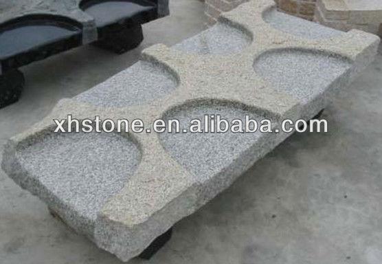 Muebles De Jardín Adorno Natural Piedra Tallada Mano Granito Piedra ...