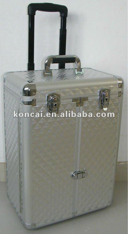 professional rolling aluminum makeup case KONCAI Details
