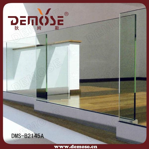 U Channel Frameless Glass Aluminum Balustrade Demose Design