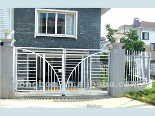 2015 Top-selling Garden Rod Iron Pipe Gate Design