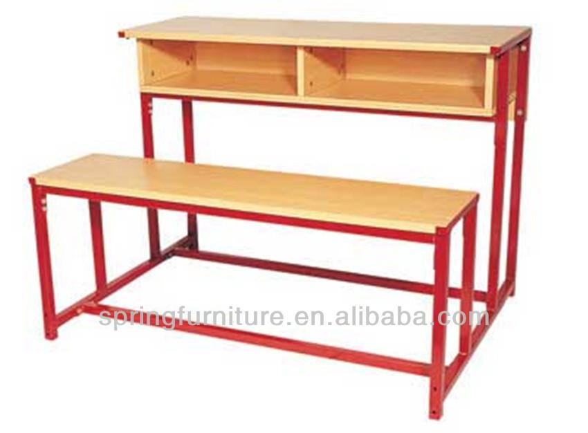 Kayu Penyusunan Meja Kursi Sekolah Dengan Terpasang Meja Ct 312