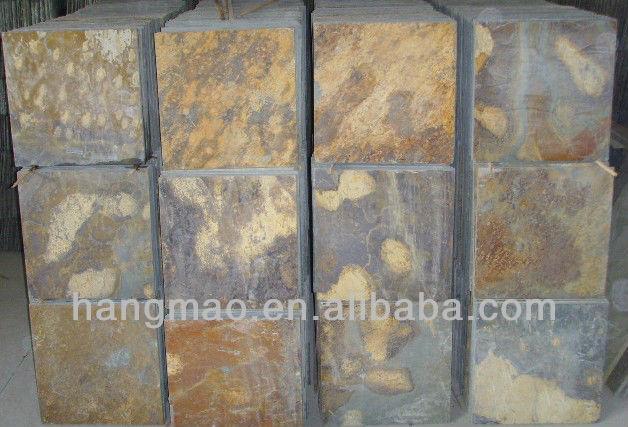 Ardesia della parete arrugginita rivestimento pavimenti in