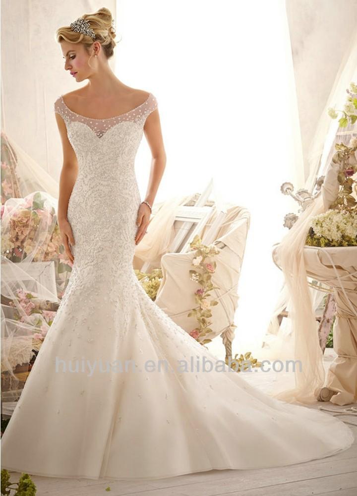 Vintage high neck long sleeve mermaid lace wedding dresses for Long sleeve high low wedding dresses