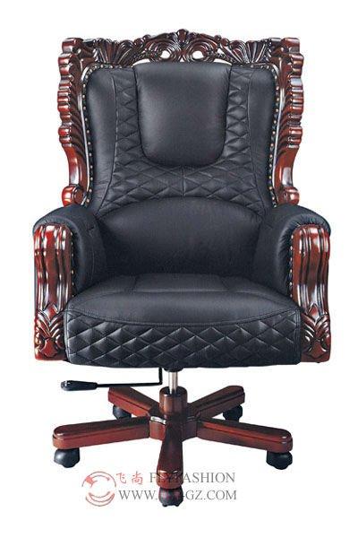 Bien-aimé En Cuir Président Président/pdg Chaise De Bureau/sculpté Roi  PO45