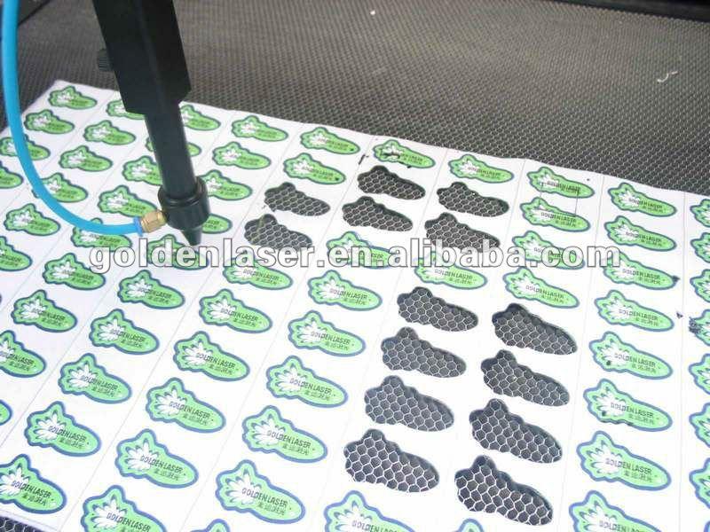 Roll sticker labels laser cutting machine