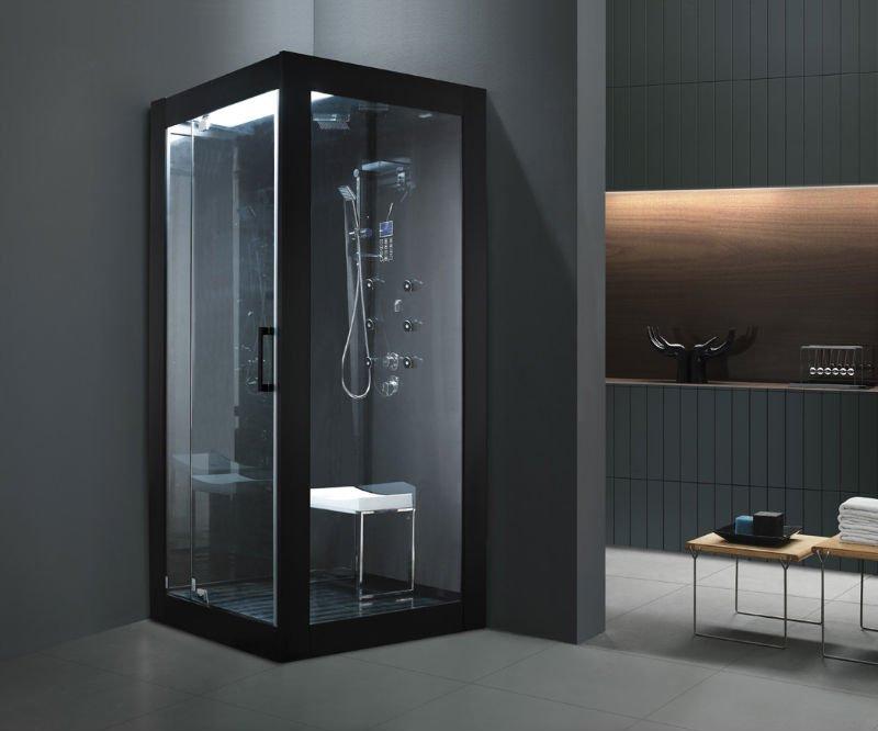 Black Hotel Bathroom Steam Shower Cabinet - Buy Bathroom Steam ...