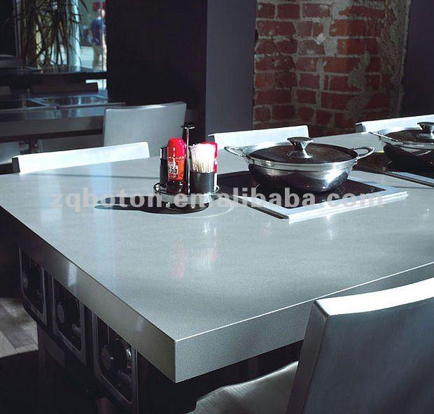 Artificiale Lastra Di Quarzo Bianco Neve/salato Bianco Contro Parte ...