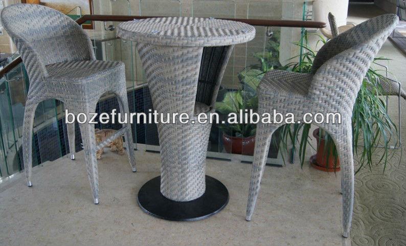 Sgabello in rattan esterno mobili sedia di vimini tavolo bistro