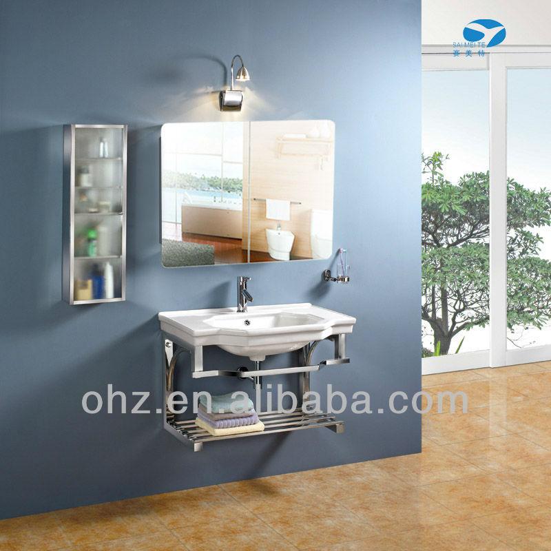 Modern Wall Mounted Sliding Door Bathroom Cabinet Mirror