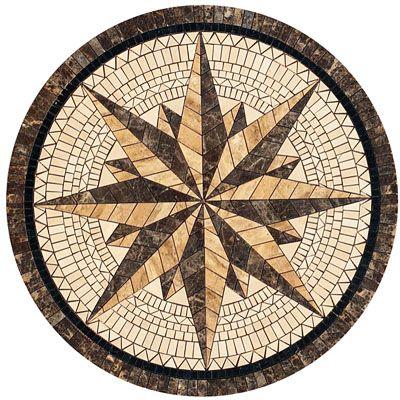 Natural Stone Tile Round Mosaic Medallion Floor Patterns