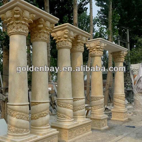 Decorative Pillars Columns home decoration pillar travertine outdoor marble granite columns