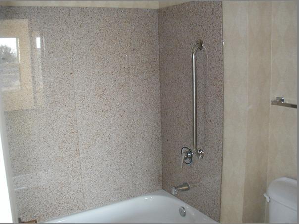 fiberglass granite tub surround