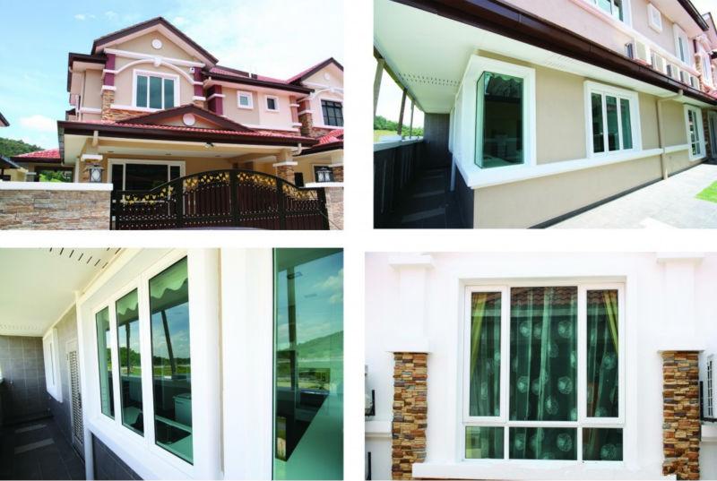 PVC french window house window grill design, View house window ...