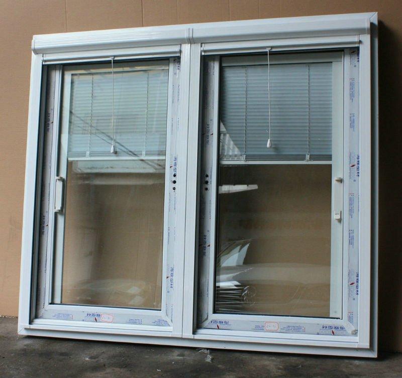 Aluminum/upvc Frame Glass Door With Built In Blinds, Big Sliding Door With  Blind