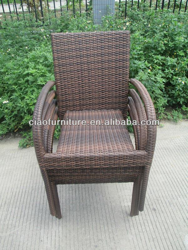 aluminium garden plastic rattan chair stackable chairs