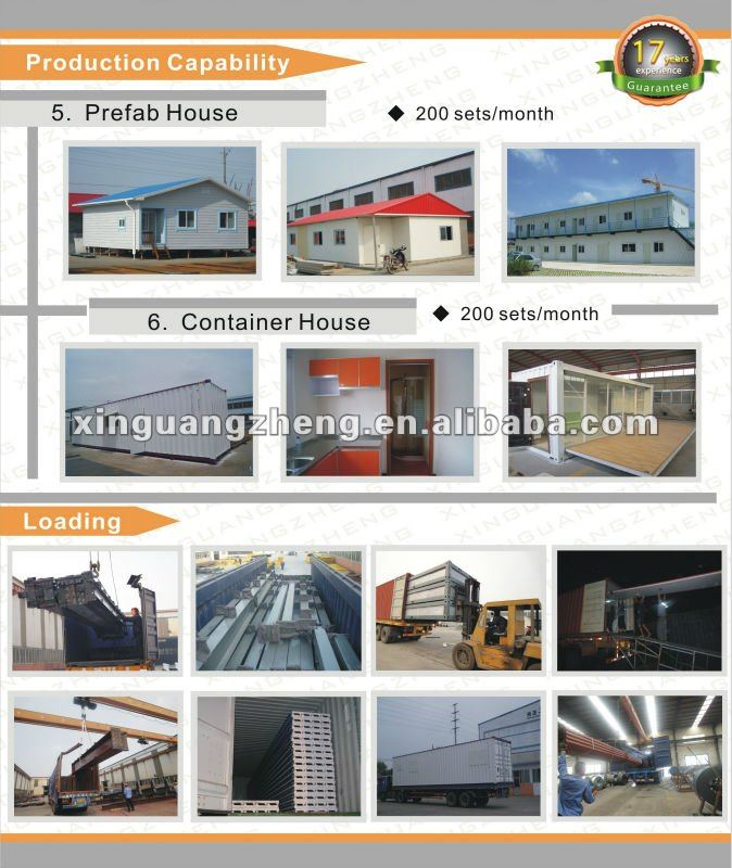 Light color steel structure prefab fire sandwich panel warehouse homes building