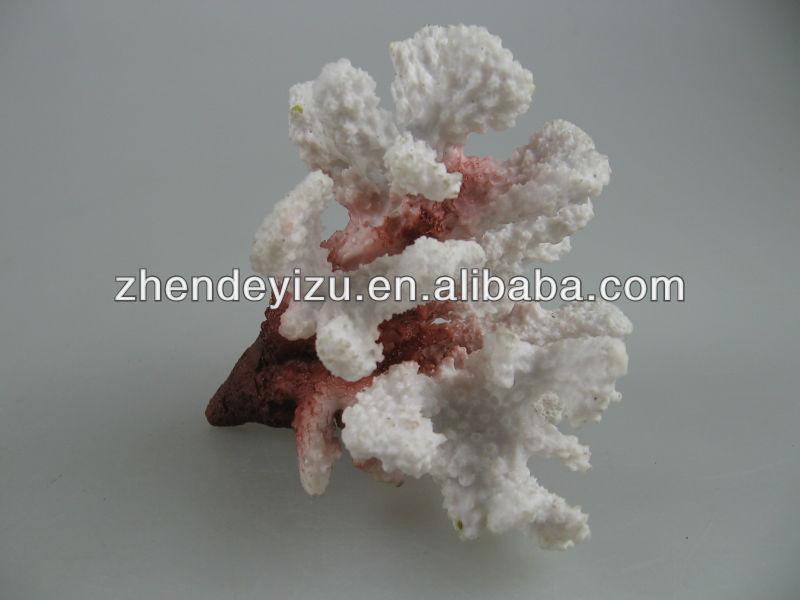 Large aquarium artificial corals white