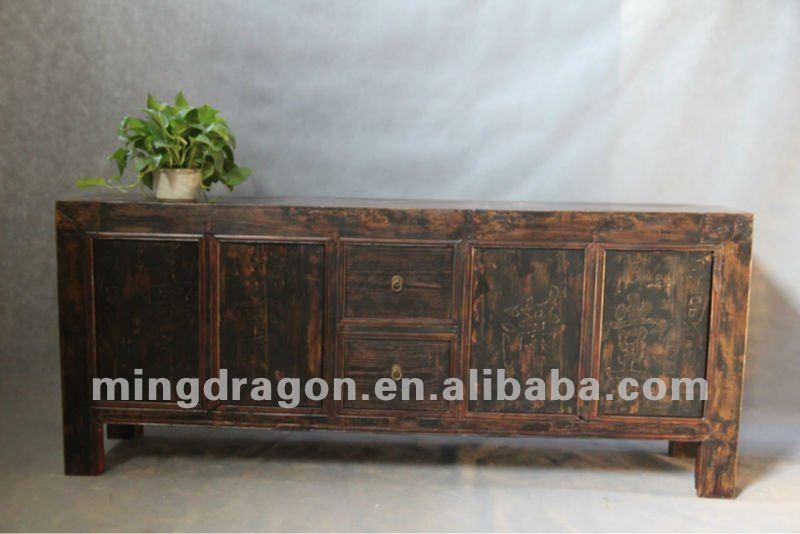 Grenen Houten Tv Meubel.Chinese Antieke Meubelen Grenen Donker Hout Kleur Shanxi Met Vier
