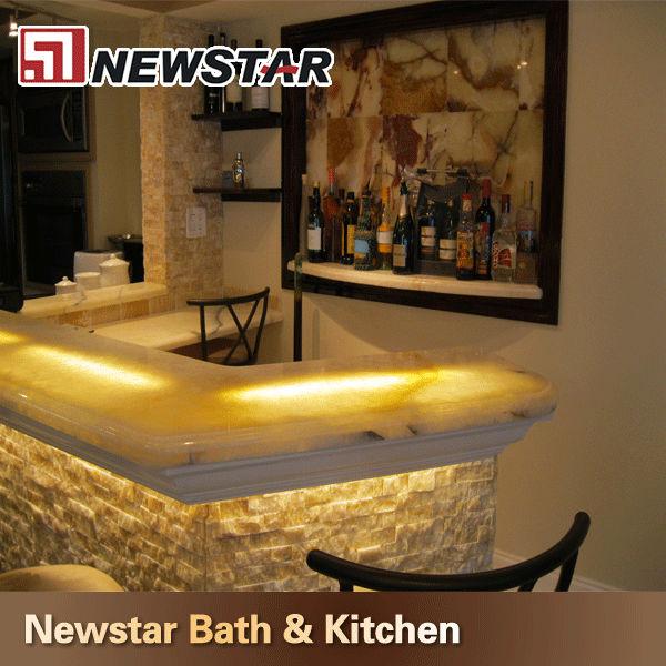 Transpatrent Onyx Stone Bar Top Design