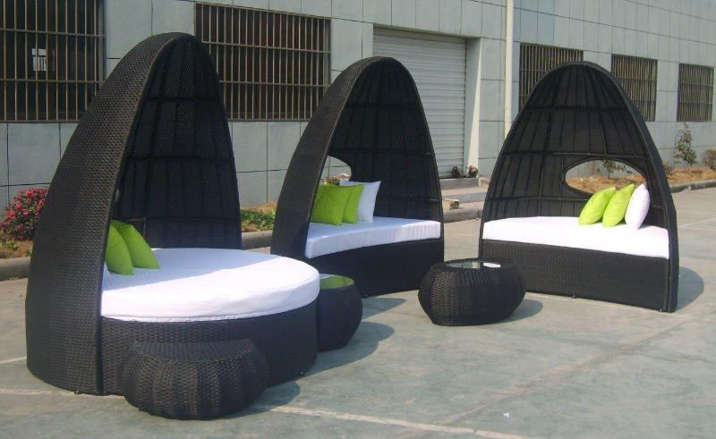 Patio Rattan Oval Sunbed Or Garden Wicker Lounge Buy