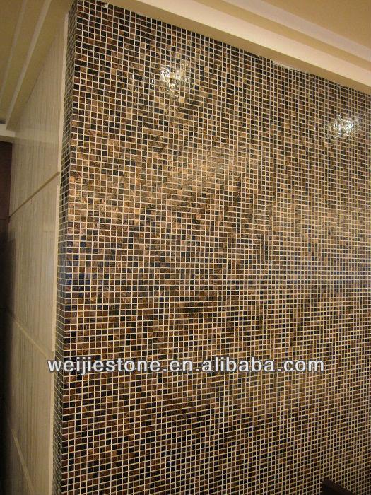 Dark Emperador Mosaic Tile Kitchen Wall Tiles Brown Marble