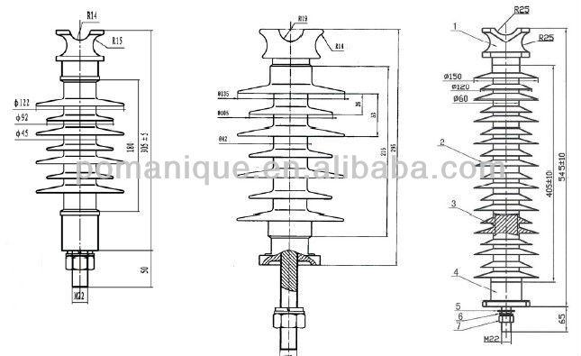 22kv 33kv cap and pin type insulator pin