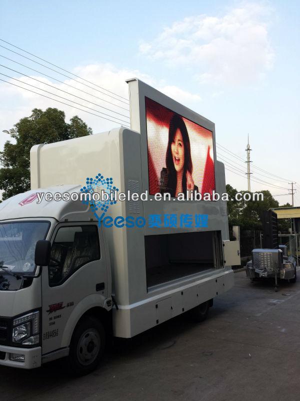 Mobile Led Billboard Truck,Outdoor Ad Van,Mobile Led Digital ...
