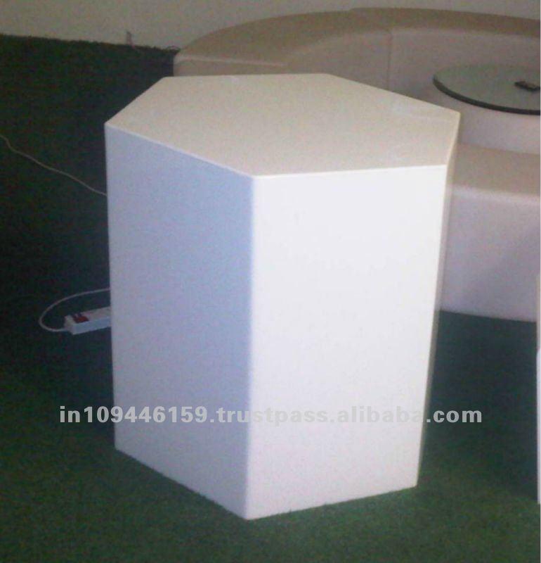 Commercial LED Acrylic Hexagon Table / Hexagon Side Bar Table / Acrylic Bar  Table