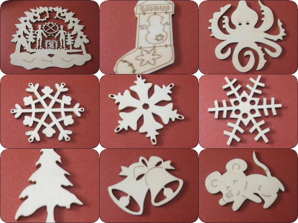 Wooden Laser Cut Mdf Christmas Ornament Craft Shape Buy