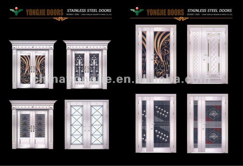 China Zhejiang Yongkang Hot Home Security Stainless Steel Door Design Of Door