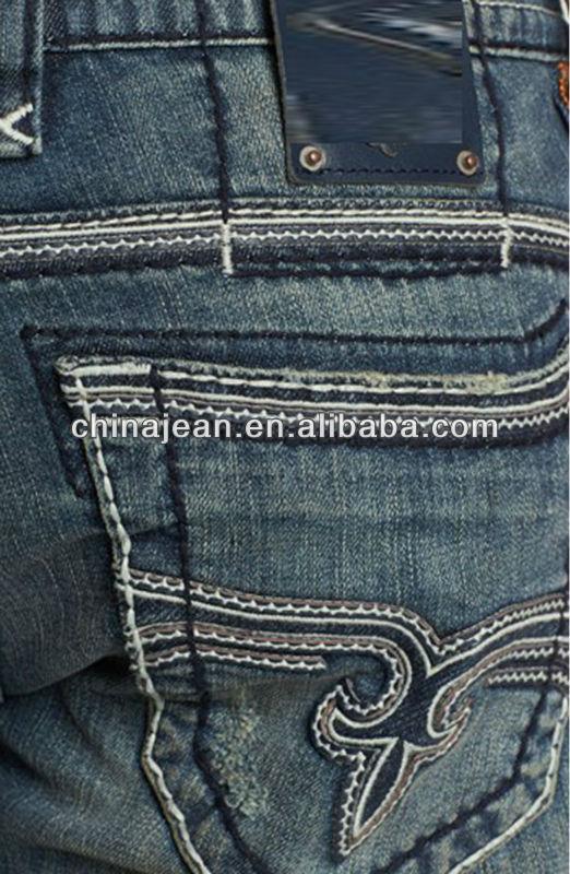 Designer Jeans back pocket?