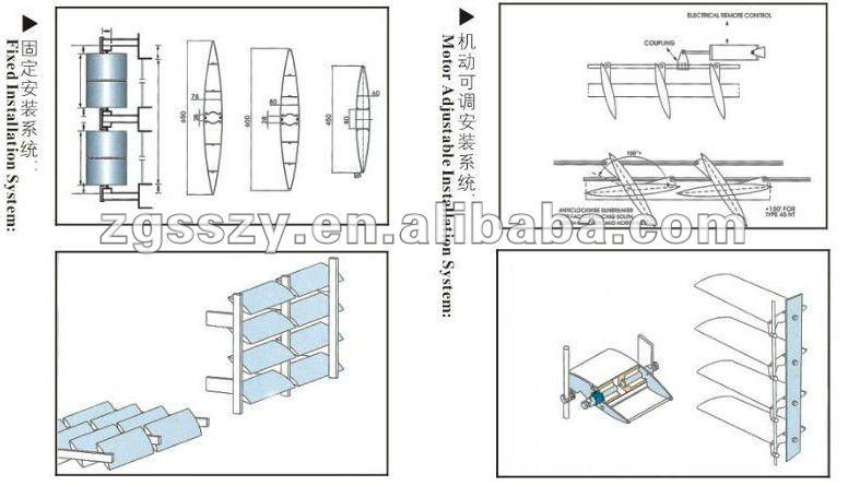 Aluminum Plantation Shutter/aerofoil Fins Aluminum Profile Sun ...