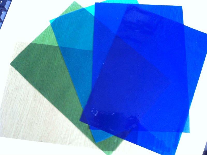 Black Pvc Glass Film Plastic Sheet Bag Material For Handicraft Packaging