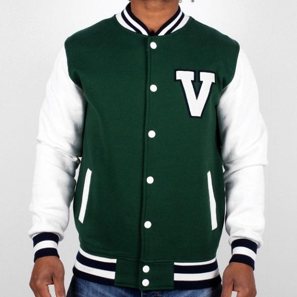Leather Green Baseball Jacket Polyester Winter Jacket - Buy ...