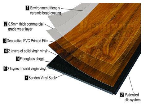 8mm Glueless Waterproof Click Lock Vinyl Plank Flooring