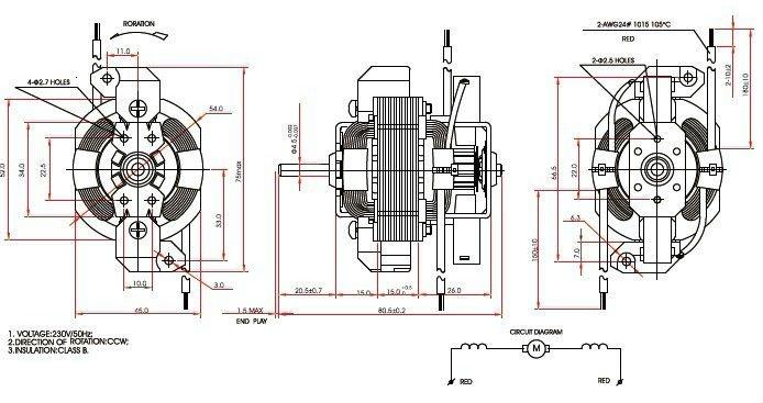 ac motor pu5415 hair dryer motor