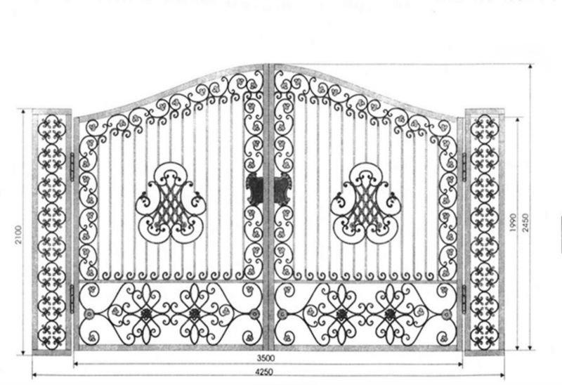 Ornamental Steel Gate Design -0056