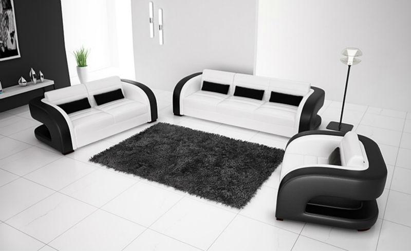 Italian Black And White Leather Sofa Ftempo Inspiration