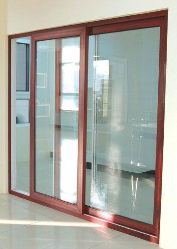 white color tinted glass aluminium frame sliding glass window, View ...
