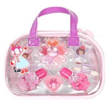 Zh1985 Lovely Pink Pvc Bag Make Up Kit For Kids