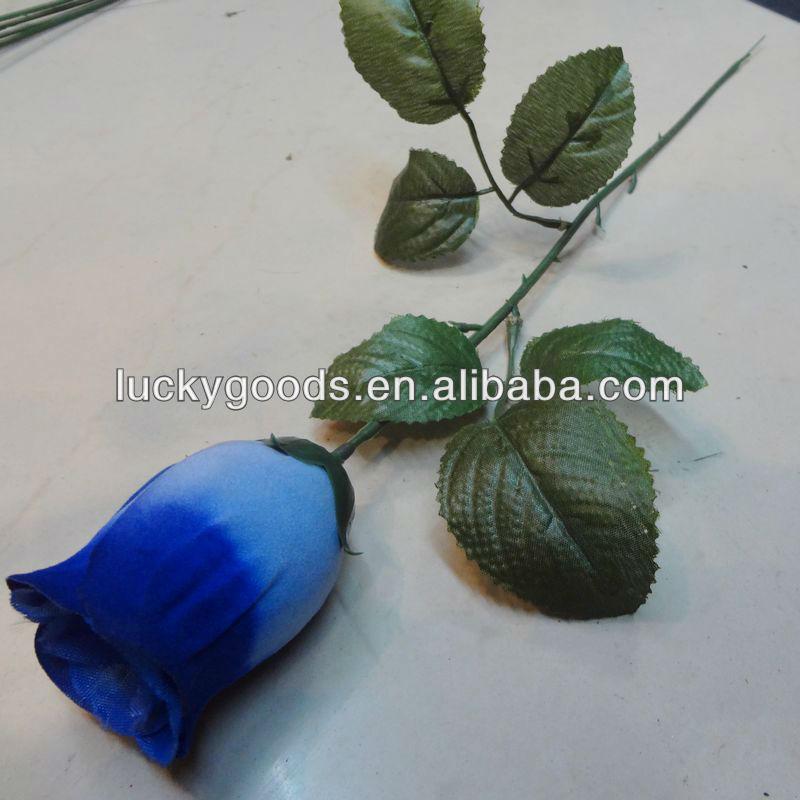 Cheap Artificial Blue Rose Flowersingle Stem Flower