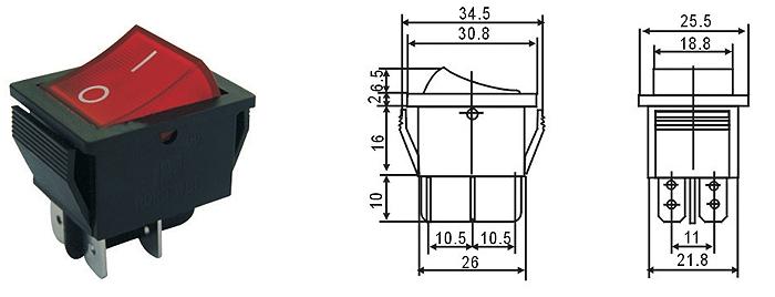 4pin Lighted T125 Rocker Switch T85,Kcd4 3 Way Rocker Switch Wiring on dpdt rocker switch, 15a 120v rocker switch, 4 terminal rocker switch, dpst rocker switch,