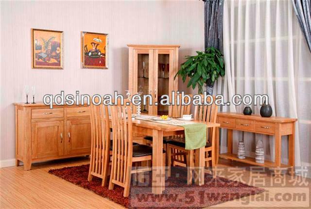 Ma chique landelijke stijl eiken houten uitschuifbare eettafel