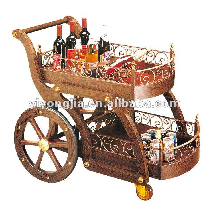 Old Fashioned Liquor Cart