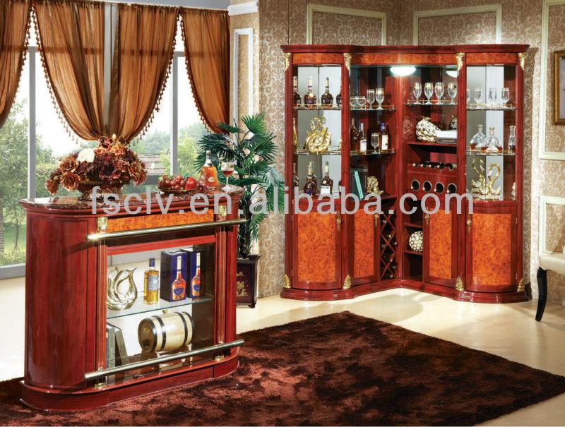 antique show pieces corner showcase bar cabinet furniture with wine rack