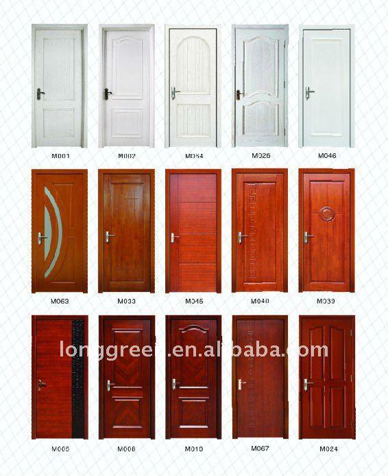 waterproof and soundproof interior door wood veneer door with frame for sale m017