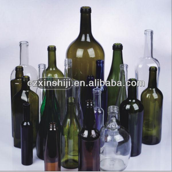 200ml 6000ml bordeaux burgundy champagne glass wine bottle for Where to buy colored wine bottles
