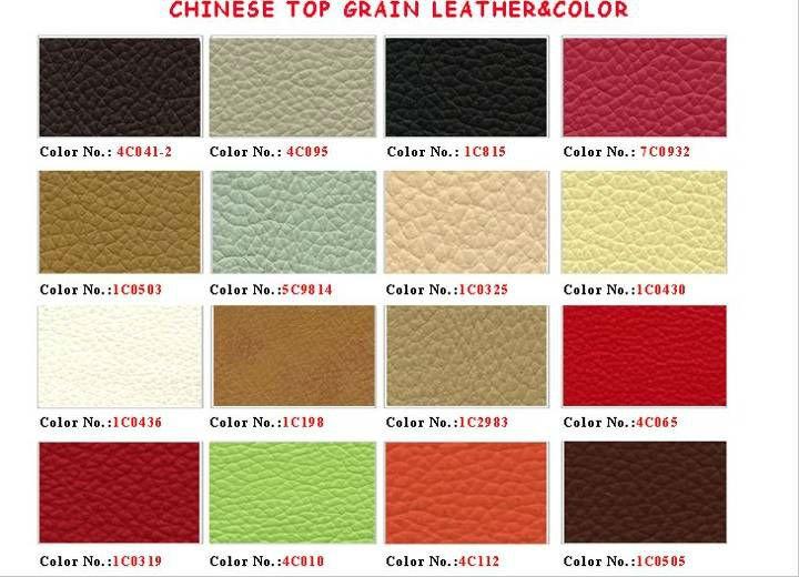Chinese Grain Leather Sofa Classic Style Living Room Sofa