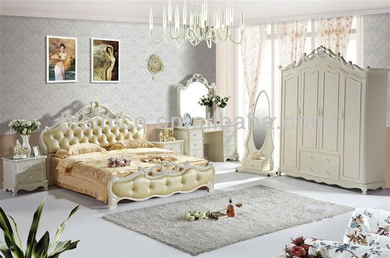 изысканный древесины мебель кровати комплект королевский стиль
